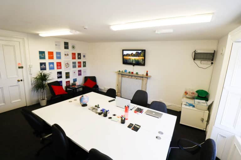 Premier Business Centres Serviced Office Dublin O'Connell Street View with door entrance