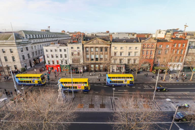 View from Prosperity Chambers O'Connell Street serviced offices